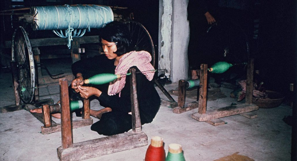 The forced pregnancies of the Khmer Rouge - A young Cambodian woman in one of the working cooperatives. Photo by Gunnar Bergström from the archives of the Documentation Center of Cambodia (DC-Cam)